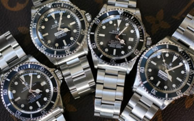 Rolex sports watches.