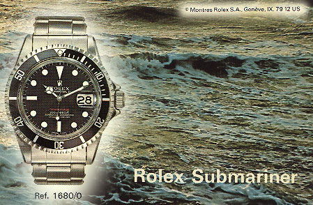 The cover from an instruction booklet of the Rolex Submariner.