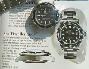 Front page of the Sea_Dweller catalogue.