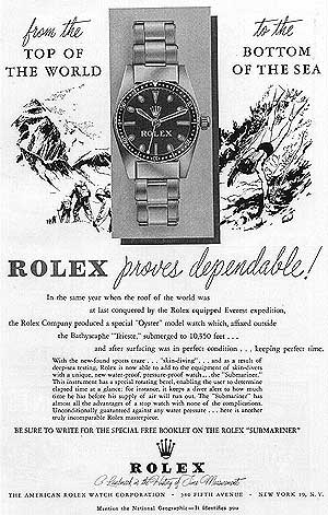 Rolex magazine advert from the '50s.